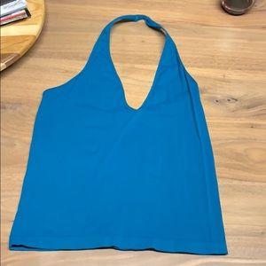 Free people blue halter top